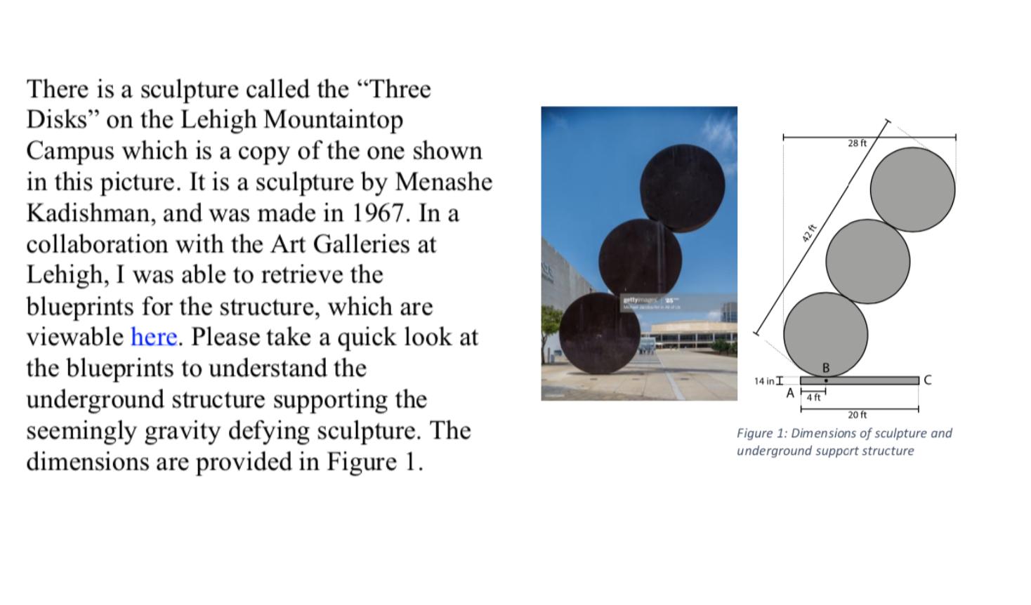 Mech003 Test Question about Kadishman Sculpture
