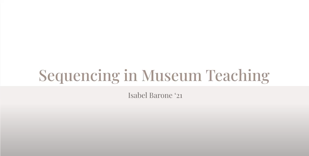 Student video off Sequencing in Teaching by Isabel Barone