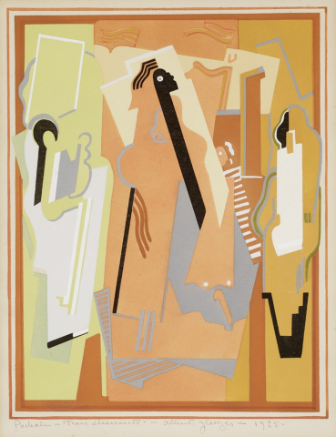 abstract people maybe playing instruments