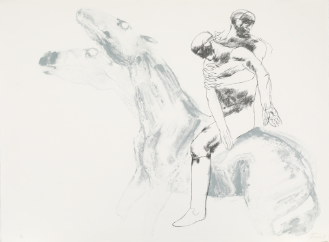Elisabeth Frink. Man And Horse IV, 1971. Lithograph on paper, 12/70.