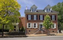 brick three story house