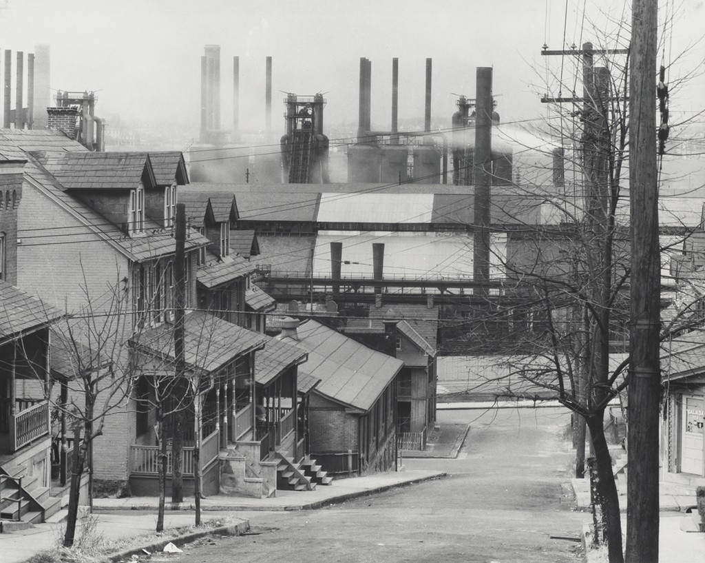 Walker Evans_Bethlehem Houses and Steel Mill, 1935